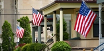 Flags on porches